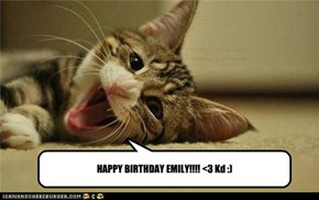 HAPPY BIRTHDAY EMILY!!!! <3 Kd :)