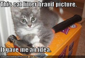 This cat litter brand picture.  It gave me an idea.