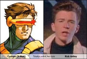 Cyclops (X-Men) Totally Looks Like Rick Astley