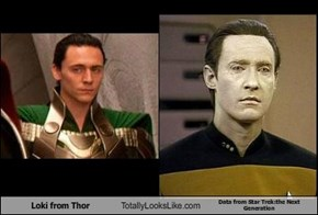 Loki from Thor Totally Looks Like Data from Star Trek:the Next Generation