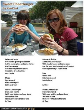 Sweet Cheezburger by KimKiwi. Written for Cheezstock, August 31, 2009