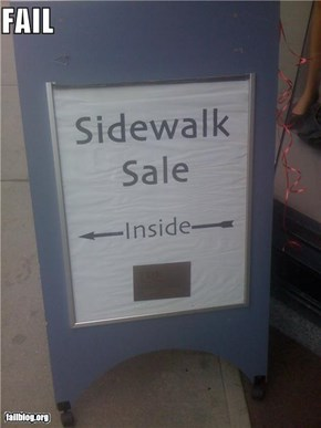 Sidewalk Sale FAIL