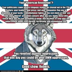 "Your ""American Revolution""?"
