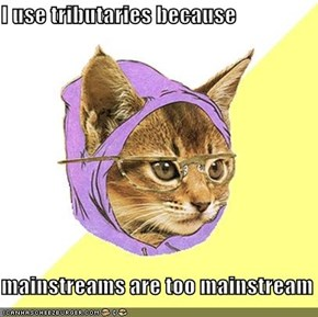 I use tributaries because  mainstreams are too mainstream