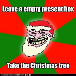 Leave a empty present box