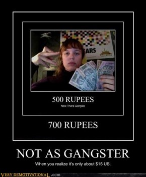 NOT AS GANGSTER