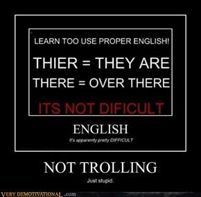 NOT TROLLING