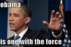 obama  is one with the force