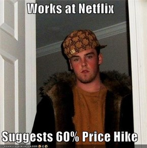 Works at Netflix  Suggests 60% Price Hike