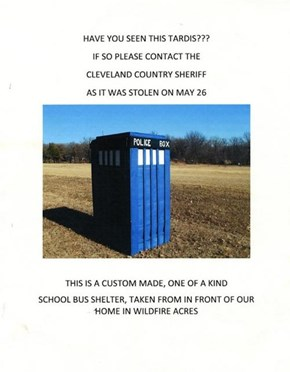 Missing TARDIS of the Day