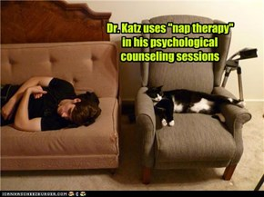 "Dr. Katz uses ""nap therapy"" in his psychological counseling sessions"