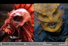 Blowfish from Torchwood Totally Looks Like Androvax from The Sarah Jane Adventures