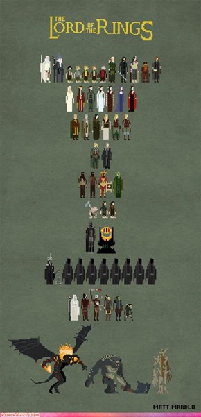 The Lord Of The Rings: Pixelated