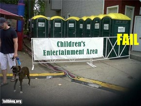 Children's Entertainment Area FAIL
