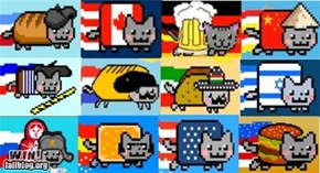 Nyan Cats Around the World WIN