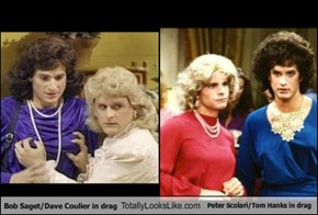 Bob Saget & Dave Coulier In Drag Totally Looks Like Peter Scolari & Tom Hanks In Drag