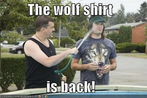 The wolf shirt  is back!