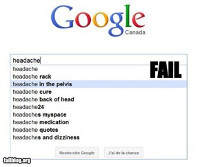 Autocomplete Me: Headache...