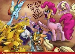 Pikachu vs. Ponies