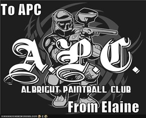 To APC  From Elaine