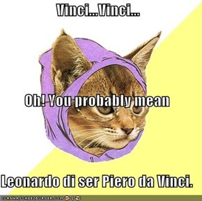 Vinci...Vinci... Oh! You probably mean Leonardo di ser Piero da Vinci.
