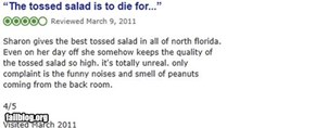 Restaurant review FAIL