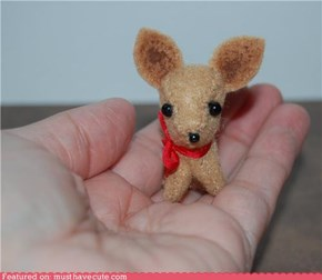 Miniature Felt Chihuahua