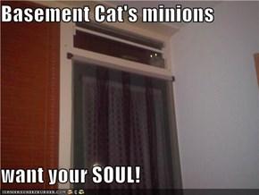 Basement Cat's minions  want your SOUL!