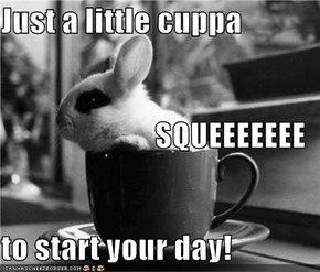 Just a little cuppa SQUEEEEEEE to start your day!