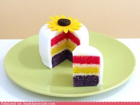 Epicute: Sunflower Rainbow Cake