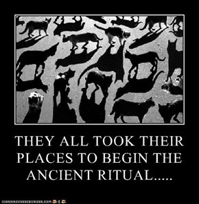 THEY ALL TOOK THEIR PLACES TO BEGIN THE ANCIENT RITUAL.....