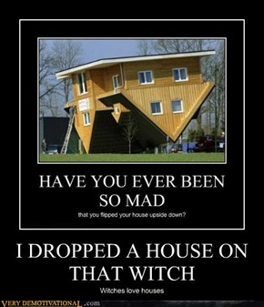 I DROPPED A HOUSE ON THAT WITCH
