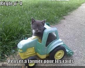 Règle n° 4  Penser à farmer pour les raids