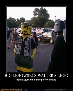 BIG LEBOWSKI'S WALTER LEGO