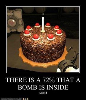THERE IS A 72% THAT A BOMB IS INSIDE