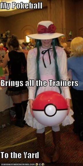 My Pokeball Brings all the Trainers To the Yard
