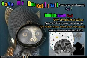 Sabe Mr Duckee! Donate now to 999-Ittehbitteh kitteh noms knomitteh!