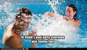 At hmph's pool party, everyone was having fun!