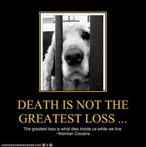 DEATH IS NOT THE GREATEST LOSS ...