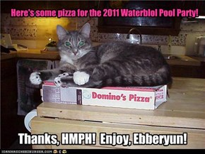Here's some pizza for the 2011 Waterblol Pool Party!