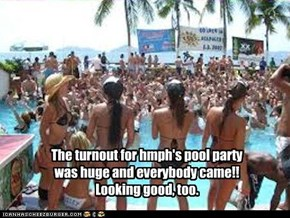 The turnout for hmph's pool party was huge and everybody came!! Looking good, too.
