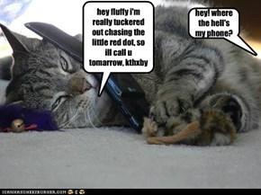 hey! where the hell's my phone?