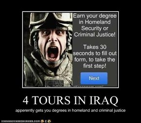 4 TOURS IN IRAQ