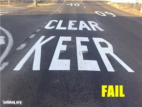 Highway Stencil FAIL