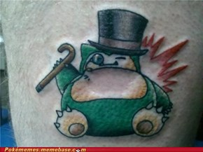 Snorlax Tattoo Win!