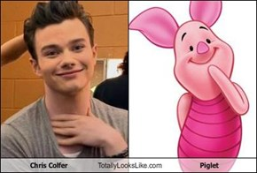 Chris Colfer Totally Looks Like Piglet