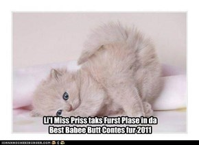 Li'l Miss Priss taks Furst Plase in da  Best Babee Butt Contes fur 2011
