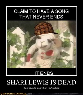 SHARI LEWIS IS DEAD