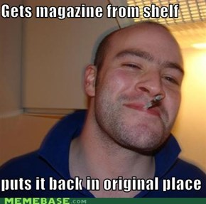 Good Guy Greg:Librarians love him