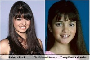 Rebecca Black Totally Looks Like Young Danica McKellar